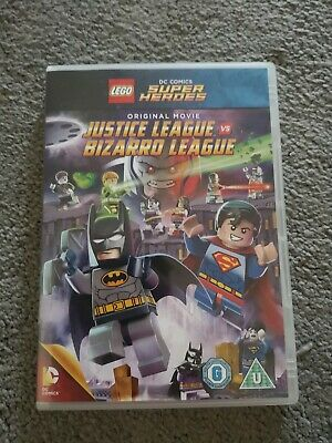 Lego DC Comic Superheroes Original Movie Justice League Vs Bizarre League Dvd U