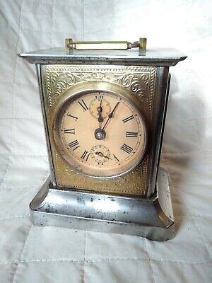 Antique Working Mauthe? German Victorian Carriage Clock Swiss Musical Alarm