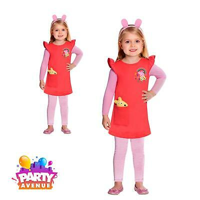Girls Toddler Peppa Pig Red Dress TV Book Week Outfit Fancy Kids Costume