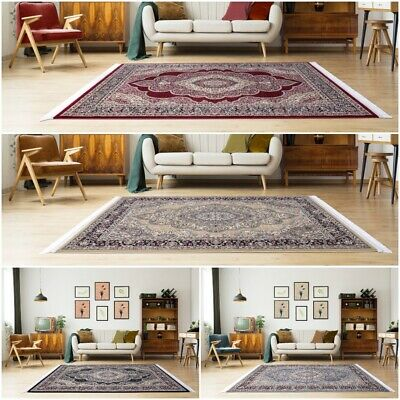 Traditional Oriental Rug Cream Beige Pink 3D Pattern Carpet Mat for Living Room