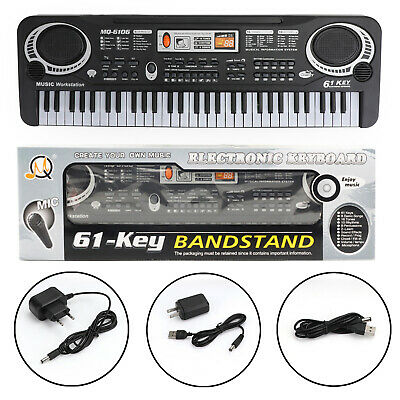 61 Key Electronic Keyboard Music Electric Digital Piano Organ + Microphone UK