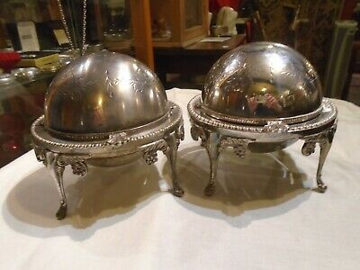 ANTIQUE MUFFIN WARMER Silver Plated EPNS  Domed Lid