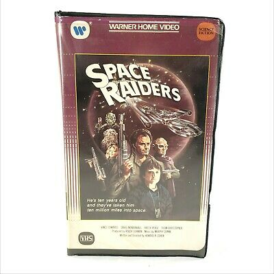 Space Raiders VHS Clamshell 1984 Warner Home Video Science Fiction Sci-Fi Space