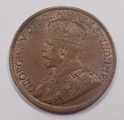 1917 Large Cent CHOICE AU-UNC ** Beautiful HIGH Grade King George V Canada Penny