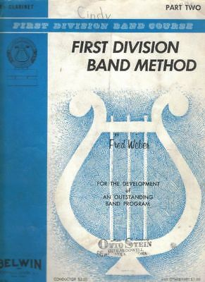 Bb Clarinet Part Two  by Fred Weber  First Division Band Method