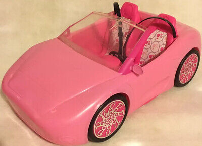 Barbie Glam Auto Pink Convertible Sports Car 2010 Mattel