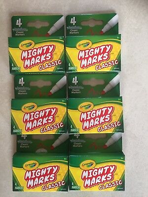Crayola Mighty Marks Markers Classic 6 Packs Of 4 Coloured Markers 20 X Markers