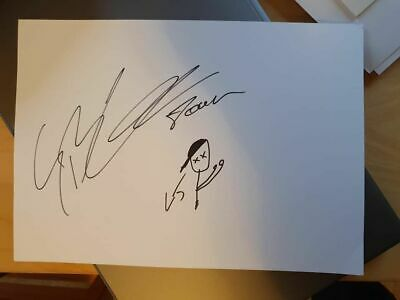 Signed Guy Learmonth Doodle Charity Auction Team Gb Scotland Athlete