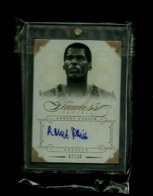 Robert Parish 2012-13 Flawless Greats GOLD Auto #/10! ON-CARD! Celtics LEGEND!