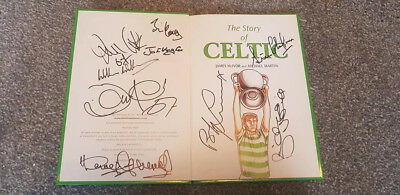 Multi Signed Lisbon Lions Celtic History Book Charity Auction 9 Signatures