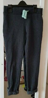 Girls grey tracksuit bottoms/trousers jogging bottoms lounge wear age 7-8