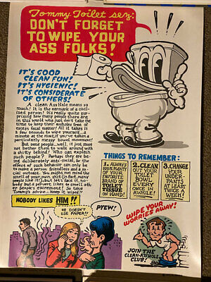 R. Crumb True Vintage Tommy Toilet Poster 1971