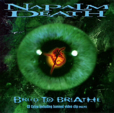 Napalm Death Breed To Breathe CD FIRST PRESSING ENHANCED