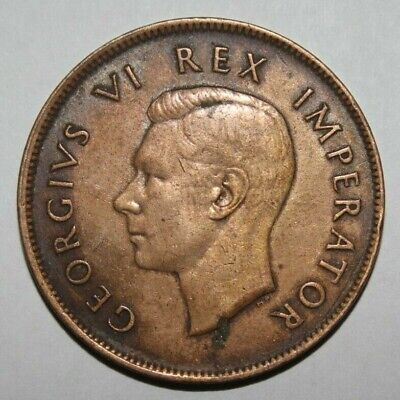 South Africa 1 Penny 1942 George VI