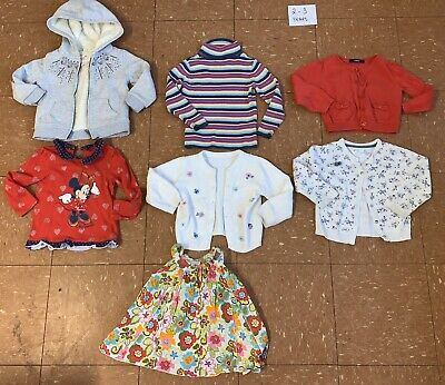 Girls Clothes Bundle Age 2-3 Years Tops T-shirts Cardigan Jacket
