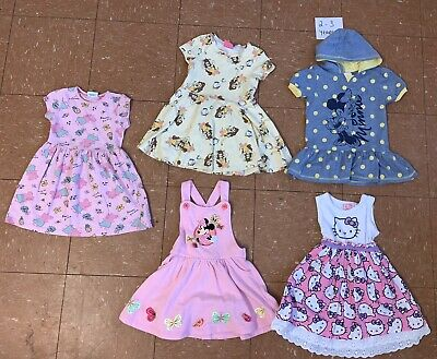 Girls Clothes Bundle Age 2-3 Years Dresses Minnie Mouse Hellos Kitty Peppa Pig