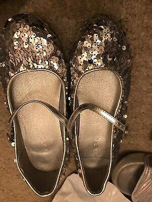 Next Girls Shoes Sparkly Size 13 Sequin Shoes Excellent Condition