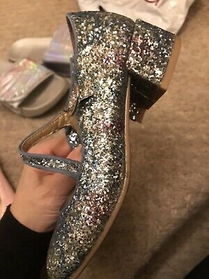 Girls Rainbow Sparkly Next Shoes Size 13