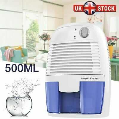 500ml Mini Thermo-Electric Air Dehumidifier Damp Mould Moisture Home Room UK