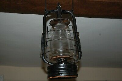 Paraffin oil large Lamp Vintage light English with glass from Saxony circa 1920s