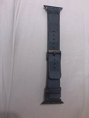 Louis Vuitton Apple Watch Band Strap 42mm 44mm Handmade Damier Graphite