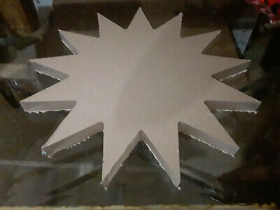 "15"" Inch Diameter - 1"" thick - 13 Point Star - CNC PRECISION Cut Clear Acrylic"