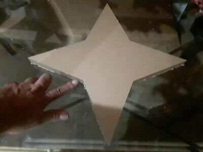 "16"" Inch Diameter - 1"" thick - 4 Pointed Star - CNC PRECISION Cut Clear Acrylic"