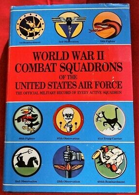 WORLD WAR II COMBAT SQUADRONS US AIR FORCE - Bombers Fighter Airplanes Reference