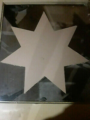 "22"" Inch Diameter - 1"" Thick Clear Acrylic - 7 Pointed Star - CNC PRECISION Cut"