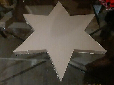 "16"" Inch Diameter - 1"" In thick - 6 Pointed Star CNC PRECISION Cut Clear Acrylic"