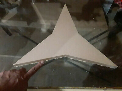 "16 1/4"" Diameter - 1"" thick - 3 Point Star - CNC PRECISION Cut Clear Acrylic"