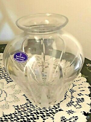 "Royal Doulton Crystal Cut and Etched 6.25"" Vase"
