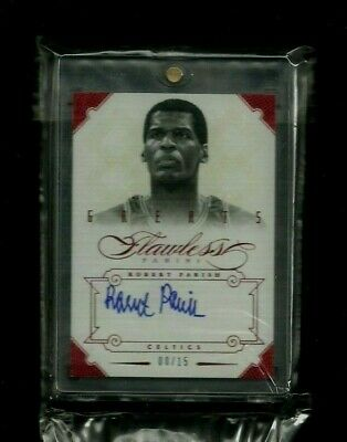 Robert Parish 2012-13 Flawless Greats RUBY Auto #/15! ON-CARD! Celtics LEGEND!