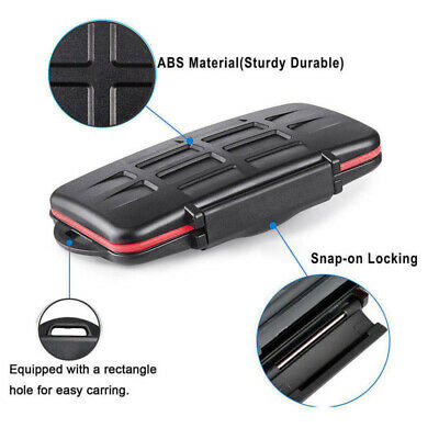 MicroSD Memory card Case Holder Wallet Anti-shock Black Protector Pouch