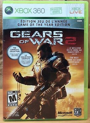 Gears of War 2 Game of the Year Ed. (Xbox 360, 2008, Microsoft) *Complete M 17+