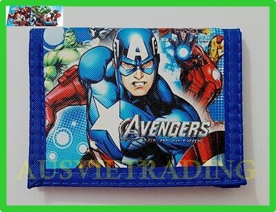new Marvel The Avenges boys kids Captain America Wallet tri-fold coin purse