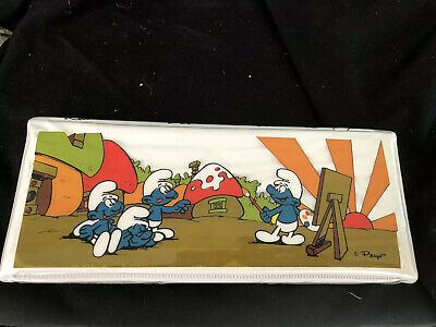 Vintage Smurfs Pencil Box, Plastic Fitted Inside And In Vg To Ex Cond.