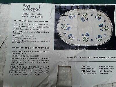 Regal Doilies Pure Linen Duchess Set To Embroider Complete