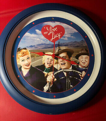 Antique I Love Lucy Wall Clock RARE 1953 Days Lines From Episodes Works! Vintage