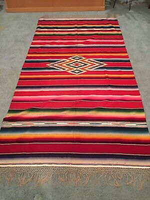 1920's Tourist Trade Mexican Lamb's Wool Blanket