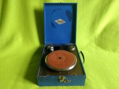 VERY RARE Vintage Orphée Portable Gramophone WORKS PERFECT TURNTABLE 78 rpm