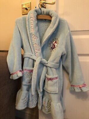 Disney Frozen Girls Fluffy Sparkle Dressing Gown 4-5 Years