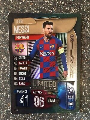 Match Attax 19/20 2019/20 2020 Lionel Messi Silver Limited Edition Le5S