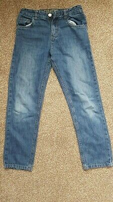 Used Boys Blue Straight Leg Denim Jeans – Size 10-11 years.