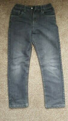 Used Boys Black Straight Leg Denim Jeans – Size 10-11 years.