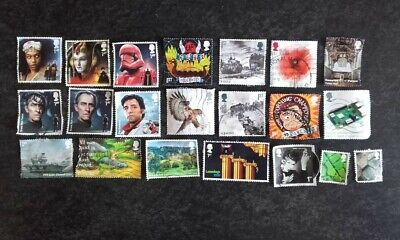 21 Royal Mail 1st + 2nd Class Franked Unfranked 2019 2020 Commemorative Stamps