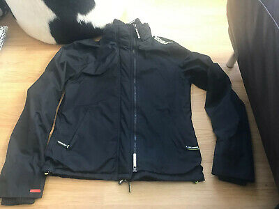 Boys XL Superdry The Windcheater Black Rain Jacket Coat Warm Winter Japan
