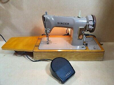 Vintage Singer 185k Sewing Machine In Case