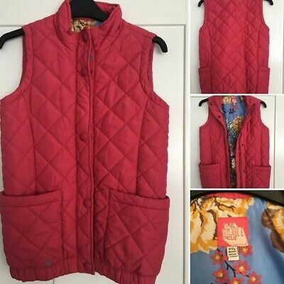 Girls Joules Pink  gilet/body warmer age 11-12 years - hardly worn