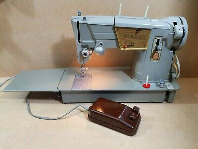 Vintage Singer 328K Sewing Machine Heavy Duty With Pedal And Case